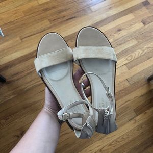 Cole Haan nude ankle strap flat size 7.5